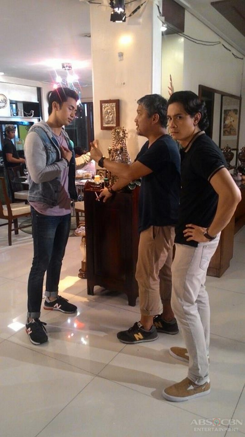 On the set of Till I Met You: Enzo Pineda bilang Stephen